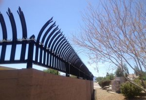 iron security fencing