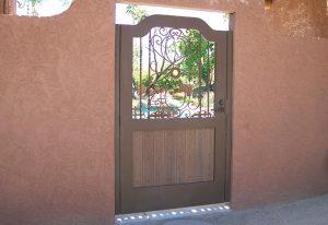 coated iron gate
