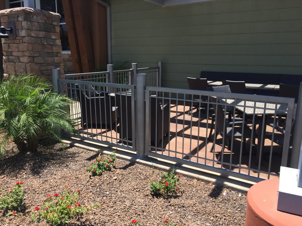 Wrought iron security fencing