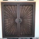 DCS Industries Custom Made Wrought Iron Screen Door